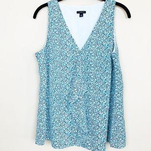Ann Taylor Blue Print Sleeveless Top 10